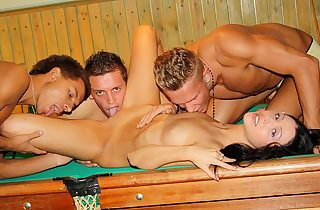 Gang-bang in billiards