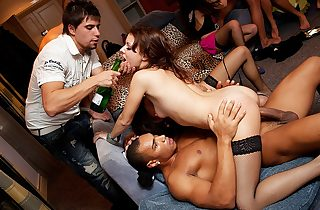Kinky group fucking at hot sex party